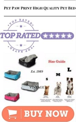 Pet Paw Print High Quality Pet Bed